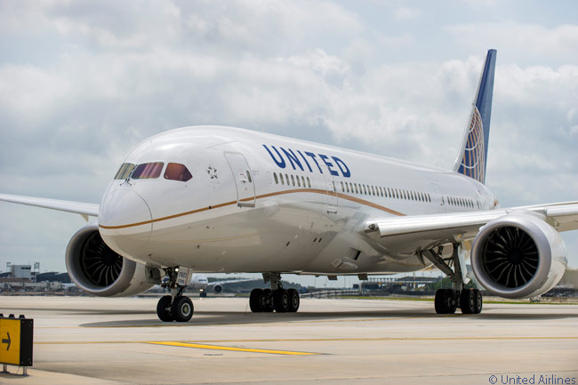 United Airlines flight UA1 on May 20, 2013 from Houston Bush Intercontinental Airport to Chicago O'Hare was the first revenue flight that United Airlines operated with a Boeing 787 following the type's grounding by the FAA on January 15 of the year