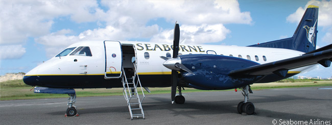 Seaborne Airlines acquired three 34-seat Saab 3430B turboprops in the fourth quarter of 2012. The regional airliners joined Seaborne's existing fleet of one De Havilland Canada DHC-6 Twin Otter Series 300, two Twin Otter Series 300 Vistaliners (featuring extra-large windows designed for scenic flights) and two Twin Otter Series 300 floatplanes