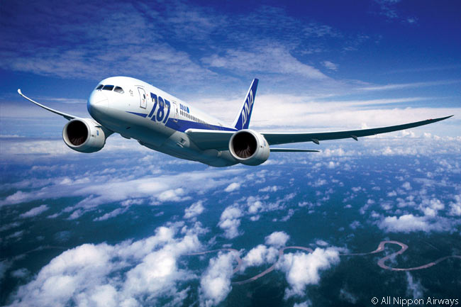 Japan's ANA adopted a special '787' livery for its Dreamliners
