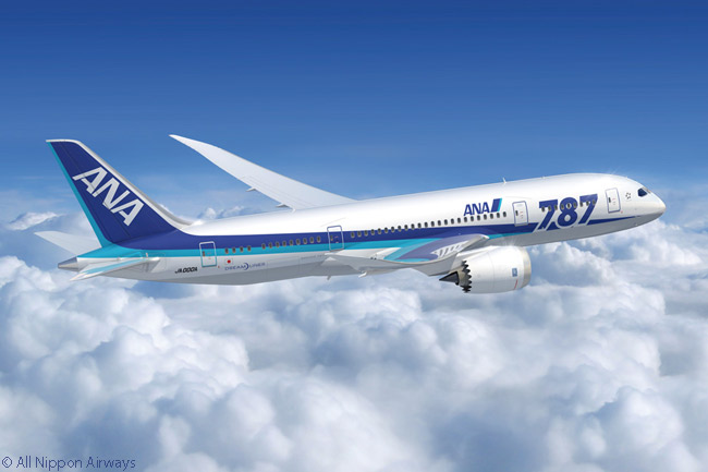 Japanese carrier All Nippon Airways has ordered a total of 66 Boeing 787s: 36 787-8s and 30 787-9s