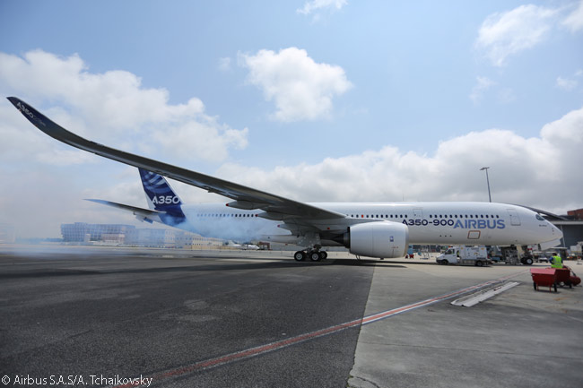 Rolls-Royce's Trent XWB engines ran for the first time on the first flight-test A350 XWB (MSN1) on June 2, 2013, following the start-up of the aircraft's auxiliary power unit as part of the preparations for the aircraft's maiden flight