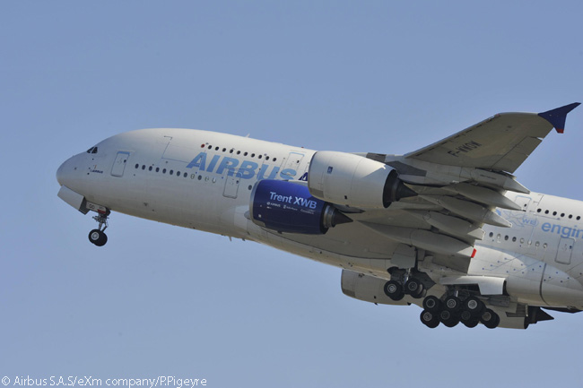 The Rolls-Royce Trent XWB versions for the Airbus A350-900 and A350-800 had already been extensively flight-tested on Airbus' in-house flight-test A380 before the first pair of production Trent XWBs were fitted to the first flight-test A350-900