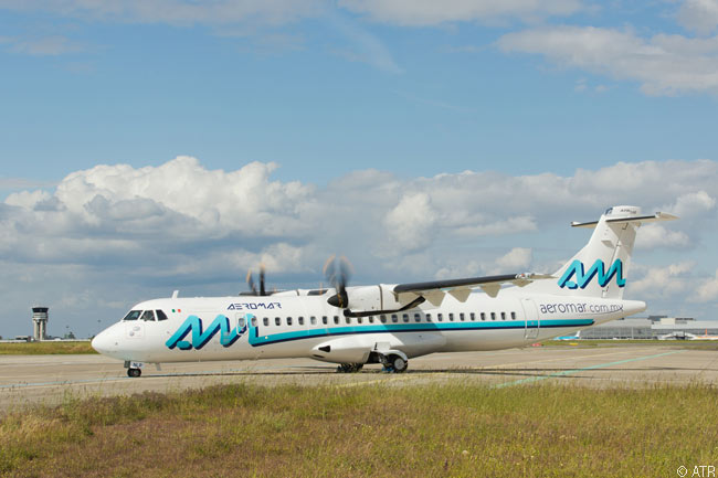 Mexico's Aeromar took delivery on June 4, 2013 of the first of two new ATR 72-600s leased from Los Angeles-based Air Lease Corporation, becoming the first airline in Central America to operate an ATR 600-series aircraft