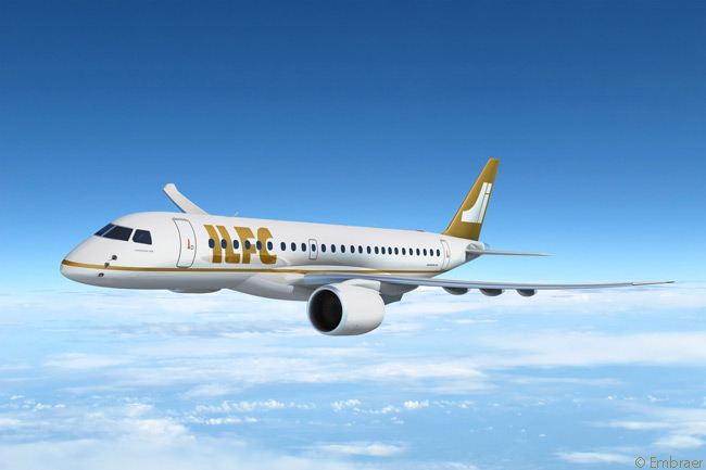 On June 17, 2013, leasing company ILFC signed a letter of intent for up to 100 Embraer 190-E2s and Embraer 195-E2s. On launching the E2 program that day at the Paris Airshow, Embraer also announced LOI commitments from five undisclosed airlines for a total of 65 E-Jet E2-family aircraft. ILFC firmed an order for 25 Embraer 190-E2s and 25 Embraer 195-E2s on July 17, 2013, and took options on 25 more of each type at the same time, preserving its 100-aircraft commitment