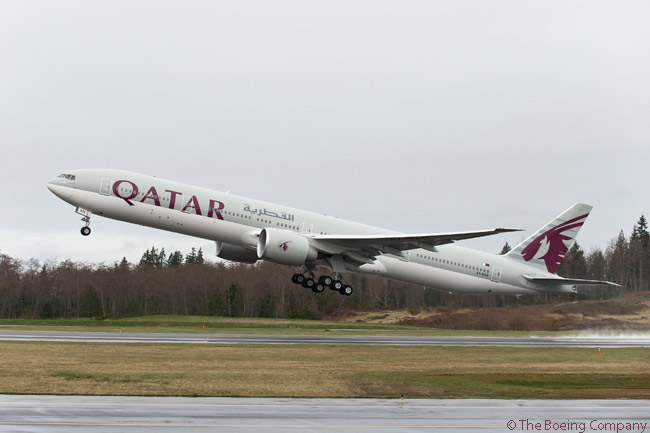 At the Paris Air Show on June 17, 2013, Qatar Airways revealed it was the previously undisclosed customer for two Boeing 777-300ERs. Qtar Airways also signed a new commitment for seven additional 777-300ERs on June 17 at the show, though the commitment was not initially a firm order