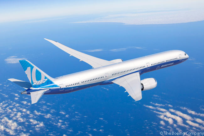 Boeing launched the 787-10, the third member of the 787 family, at the Paris Air Show on June 18, 2013, with commitments and orders for 102 aircraft from five customers across Europe, Asia and North America