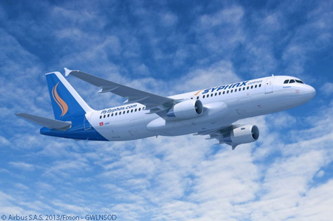 Airbus announced at the Paris Air Show on June 18, 2013 that Tunisia's Syphax Airlines had ordered three more A320s to add to three A320s and A319s already in service. Syphax was also due to put a leased A330-200 widebody into service. At the show Syphax also became the first Africa-based airline to commit to the A320neo, signing a memorandum of understanding for three