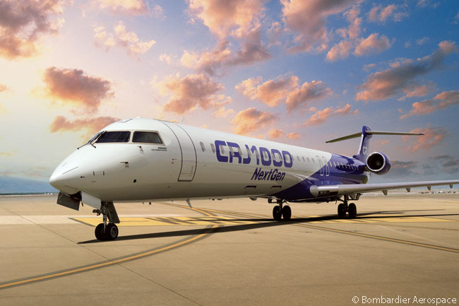 The CRJ1000 NextGen is the largest model in the high-selling Bombardier CRJ family, but as of mid-2013 the CRJ1000 had not seen strong sales