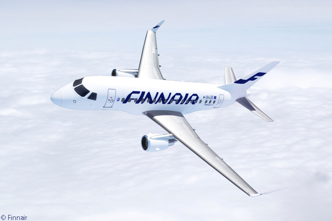 This computer graphic image shows an Embraer 170 in Finnair's current livery. Finnair, which owns five Embraer 170s, has leased out three of the aircraft and the other two are operated on its behalf by affiliate regional carrier Flybe Nordic. All three leased-out aircraft are entering new six-year leases with Aeroméxico Connect by June 2014