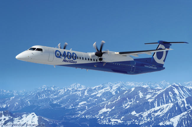 Bombardier's Q400 and Q400 NextGen fast turboprop regional airliners have been very successful in terms of sales and continue to sell well