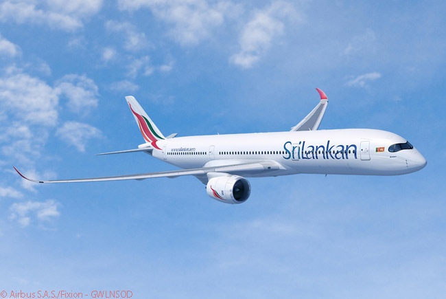 SriLankan Airlines will become an operator of the Airbus A350-900 long-haul widebody, after signing a memorandum of understanding on June 19, 2013 to order four, plus six A330-300s. SriLankan Airlines has also agreed to lease three more new A350-900s