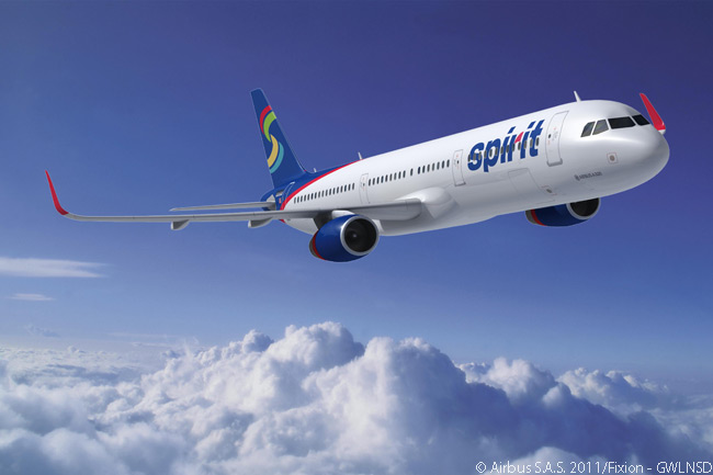 On June 20, 2013, at the Paris Air Show, Spirit Airlines announced a new order for 30 Airbus A321 jets and revealed it had changed previously placed orders for 10 A320s to specify A321s instead. All 30 of Spirit's A321s, to be delivered between 2015 and 2018, feature Sharklet wing-tip devices and will be the first A320-family jets in North America to feature Airbus' Space-Flex cabin option, which optimizes use of the available space at the very back of the aircraft