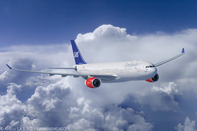 Already an operator of four Airbus A330-300s, SAS signed a memorandum of understanding on June 25, 2013 to order four more, along with eight A350-900s
