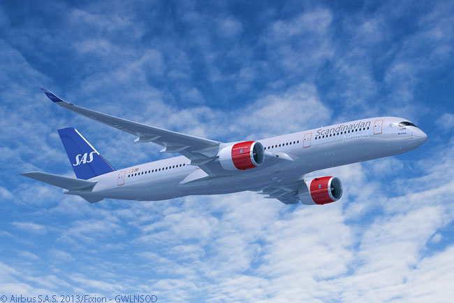 On June 25, 2013, Scandinavian Airlines signed a memorandum of understanding to order eight Airbus A350-900s and four additional A330-300s