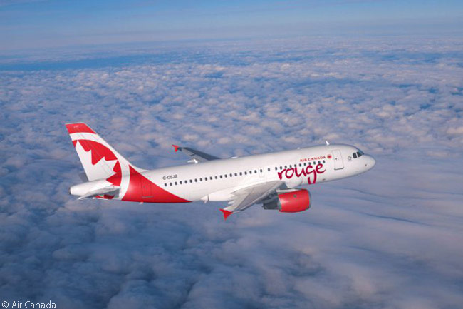 Air Canada's leisure-travel brand Air Canada rouge began commercial services on July 1, 2013 with two Airbus A319s and two Boeing 767-300ERs. The carrier's fleet of A319s was due to grow by another 10 aircraft by March 2014