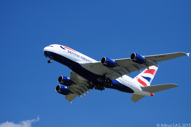 On July 4, 2013 British Airways took delivery of the first of 12 Airbus A380s it had on order