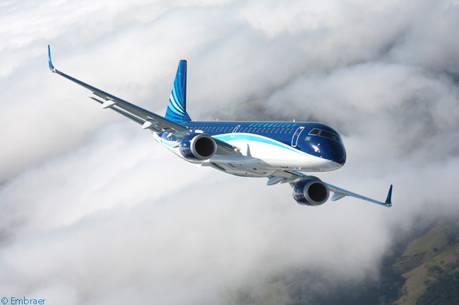 Azerbaijan Airlines, the national carrier of Caucasus-region nation Azerbaijan, took delivery on July 4, 2013 of the first of four Embraer 190s on order. The airline also agreed to buy two Embraer 170s from ECC Leasing, Embraer's leasing subsidiary