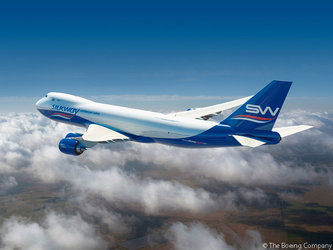 On July 11, 2013, Azerbaijan-based cargo carrier Silk Way Airlines announced an order for two Boeing 747-8 Freighters