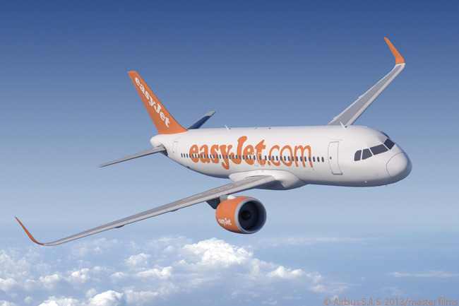Following an initial order for 100 Airbus A320neo jets (plus purchase rights on 100 more) firmed on July 11, 2013, the A320neo is set to become the backbone of UK low-cost carrier easyJet's fleet until at least the mid-2020s. The airline also plans to operate more than 100 A320 current engine option jets, ordering another 35 on July 11, 2013 along with the A320neos