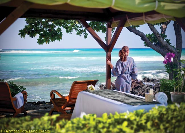 The Fairmont Orchid has an outdoor spa, naturally enough named Spa Without Walls