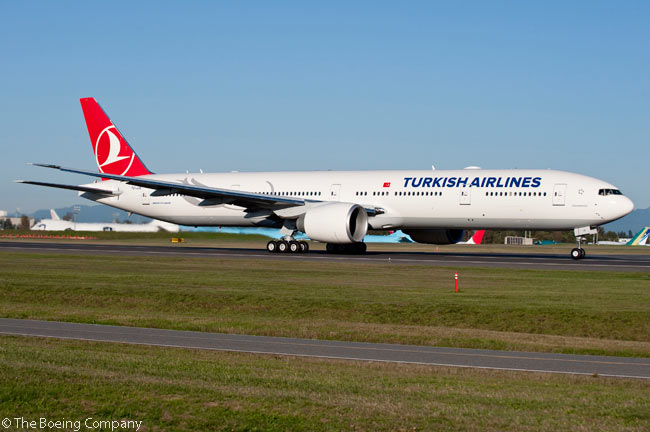 On July 22, 2013, Turkish Airlines firmed options on five Boeing 777-300ERs, to add to 15 already on order and 15 more already in service. Three of the latter were wet-leased, but Turkish had ordered all its other 777-300ERs directly from Boeing