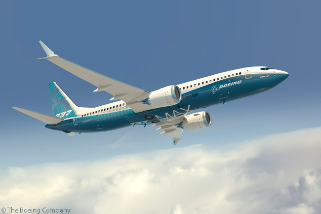 On July 23, 2013, announced it had completed the firm configuration of the 737 MAX 8. This milestone marked completion of the major trade studies to define the capabilities of the 737 MAX family. Pictured here is an artist's rendering of the 737 MAX 8 in its final configuration