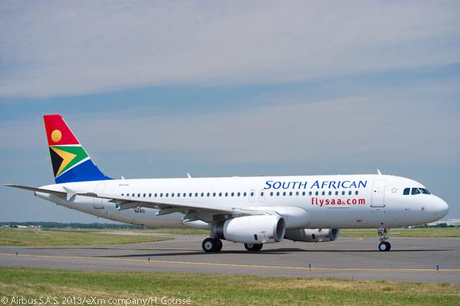 On July 23, 2013, South African took delivery of the first two of 20 Airbus A320-family jets on order. The first two aircraft were both A320s and neither featured drag-reducing Sharklet wingtip devices, an option on the existing A320 family