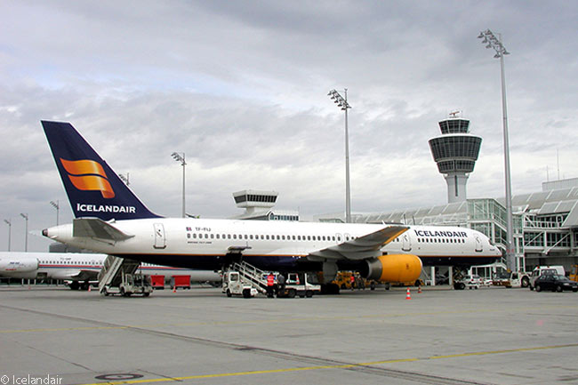 Boeing 757-200 TF-FIJ of Icelandair is seen at the gate at Keflavik International Airport. A former U.S. Air Force Base which has long been Iceland's main airport, Keflavik is located on Iceland's southwestern tip 31 miles away from Reykjavik, the island nation's capital