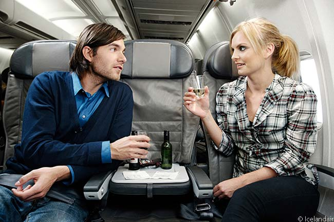 Icelandair's Economy Comfort class offers passengers leather economy seats, but the middle seat is not used and passengers get an extra inch of legroom compared with seats in Economy Class