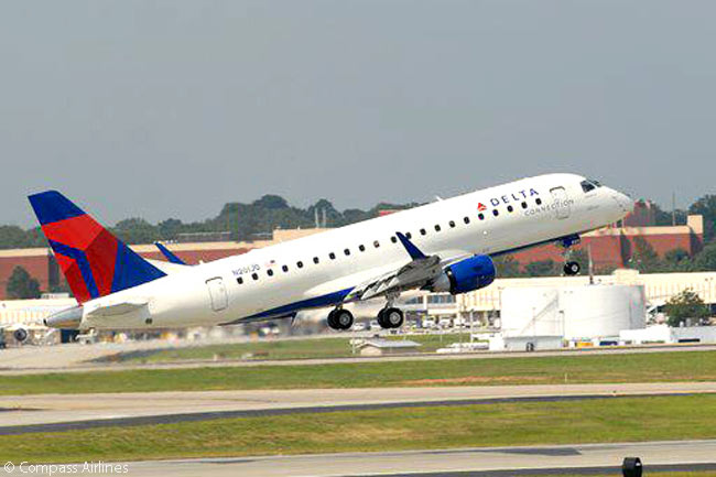 Compass Airlines, a subsidiary of regional airline holding company Trans States Holdings, operates 36 Embraer 175s and six Embraer 170s on behalf of Delta Air Lines. American Airlines has also contracted with Compass to operate 20 or more of American's Embraer 175s