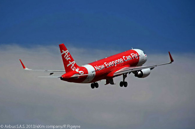 The 8,000th commercial aircraft delivered by Airbus was an A320 for the Indonesian wing of AirAsia. The aircraft departed Toulouse on July 3, 2013 and arrived at Jakarta on July 5, local time
