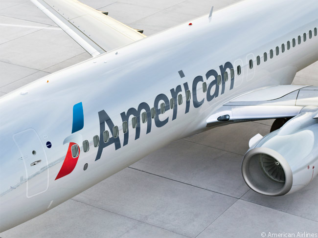 Over time American Airlines is painting all its aircraft with a new livery which features a more stylized eagle logo. According to American Airlines, its branding research found that in some countries the airline's traditional logo of an eagle with outstretched talons was perceived by the public as being predatory and aggressive