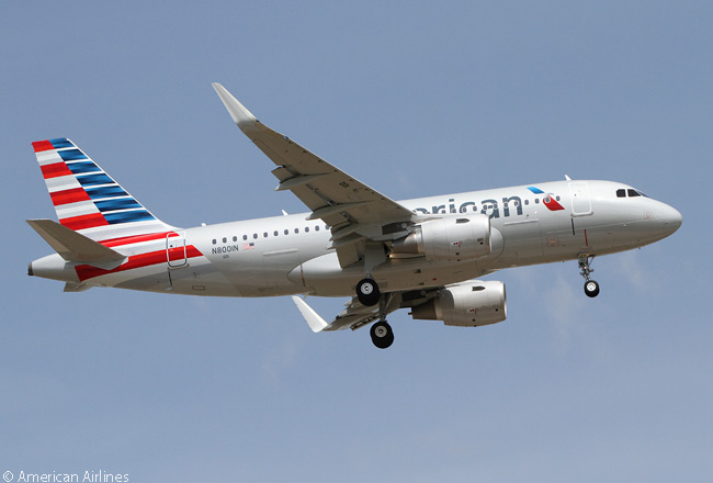 American Airlines took delivery of its first Airbus A319 on July 23, 2013. The type would enter American Airlines commercial service on September 16 of that year
