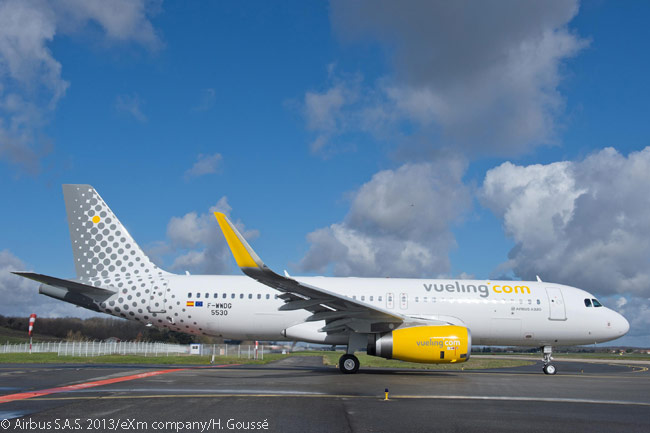Barcelona-based Vueling operates a large and growing fleet of Airbus A320s. On August 16, 2013, when Vueling was already operating 66 A320s and four A319s, the airine's new owner International Airlines Group ordered another 30 A320s and 32 A320neos for the Spanish low-cost carrier