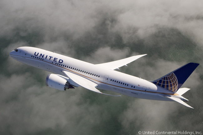 United Airlines was the North American launch customer for the Boeing 787, being the first North American airline to receive a 787-8 off the production line. However, the former Northwest Airlines had ben the first U.S. airline actually to order 787s, well before it merged with Delta Air Lines