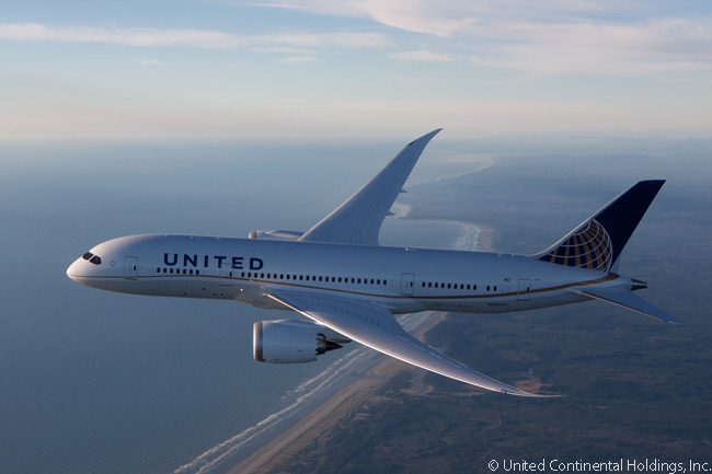 By summer 2013 United Airlines had a total of 65 Boeing 787 Dreamliners on firm order: 21 787-8s, 24 787-9s and 20 787-10s