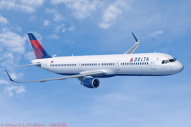 Delta Air Lines placed an order on September 4, 2013 for 30 Sharklet-equipped Airbus A321s, to add to 126 A320-family jets the carrier already had in service. When delivered, the A321s would be the first examples of the model to enter Delta service. Many if not all of the A321s for Delta will be assembled on Airbus' new A320-family final assembly line in Mobile, Alabama