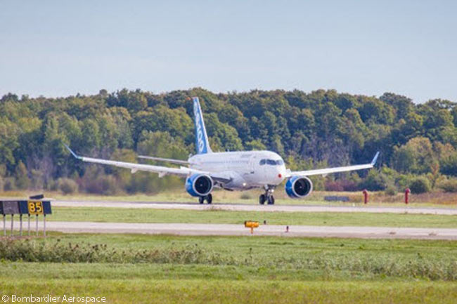 During the week beginning September 9, 2013, Bombardier Aerospace completed high-speed taxi tests with the first flight-test CS100 jet as a necessary preliminary to the aircraft making its maiden flight