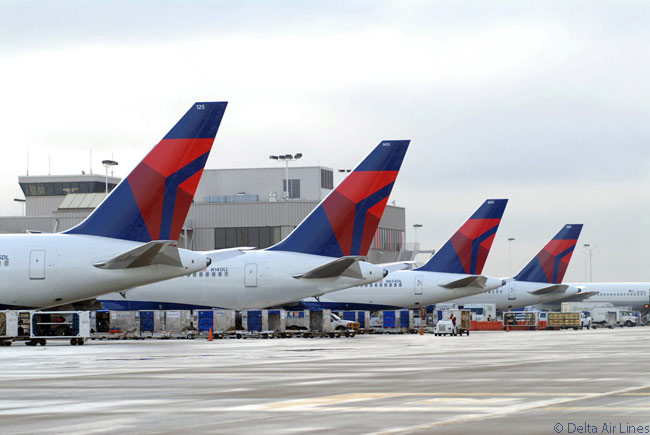 Delta Air Lines' hub at Hartfield-Jackson Atlanta International Airport is the biggest of any U.S. airline's in terms of the numbers of daily departures and arrivals it involves