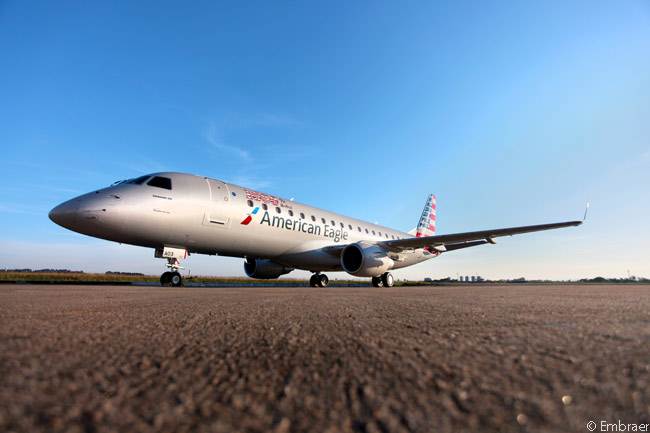 This Embraer 175, delivered to Republic Airlines on September 13, 2013 for operation on the American Eagle network, was the 1,000th production Embraer E-Jet to be delivered