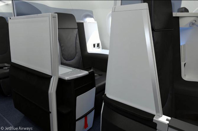 There are four individual suites with flat-bed seats in JetBlue Airways' 'Mint' transcontinental premium-class cabin, a feature says no other U.S. carrier offers on domestic services. The Mint cabin also has 12 other flat-bed seats not in suites