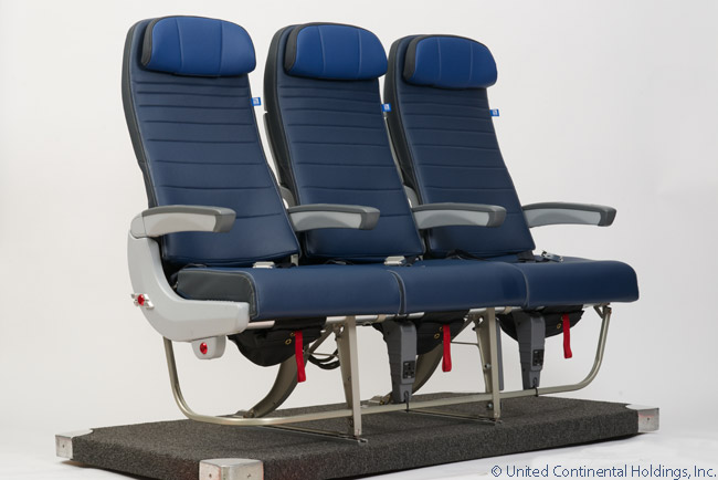 This is United Airlines' latest domestic and regional Economy seat design, as found in one of United's mainline Boeing 737NGs