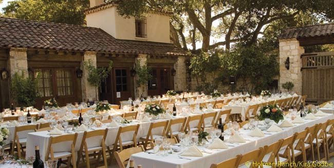 Not a full, public-service hotel, Holman Ranch nevertless hosts and offers accommodations for many private groups such as corporate retreats, weddings, meetings and reunions. Members of the the affiliated Holman Ranch Vineyards Wine Club can also stay there