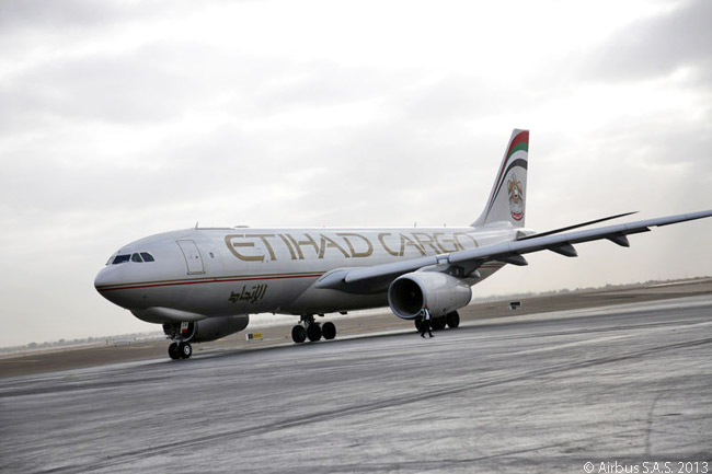On November 17, 2103, as part of an 87-aircraft firm order with Airbus, Etihad Airways ordered one A330-200 Freighter and optioned two others, to add to four already in service and on order