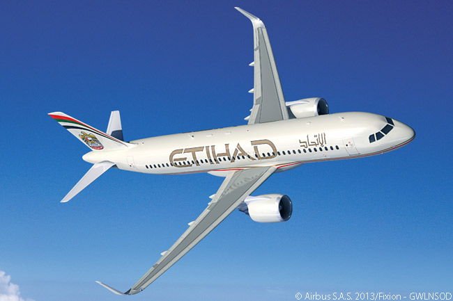 In its order of November 17, 2013 for 87 Airbus aircraft, Etihad Airways included a requirement for 10 A320neos, powered by CFM International LEAP-1As