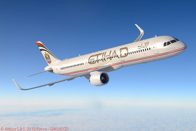 On November 17, 2013, Etihad Airways announced an order for 87 Airbus jets, along with options on 30 more. Included among the aircraft ordered were 26 A321neos, to be powered by CFM International LEAP-1A engines