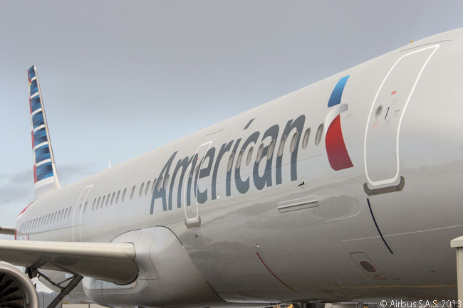American is painting all of its Airbus A321s in its new livery. Delivery of the airline's first A321 took place on November 21, 2013