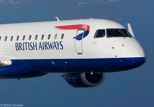 British Airways regional subsidiary BA CityFlyer is based at London City Airport and operates a fleet composed of Embraer 170s and Embraer 190s from there to destinations in the UK and throughout Western Europe
