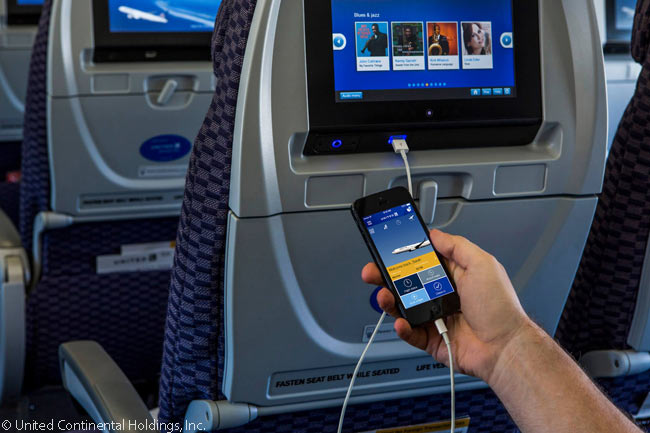 Every seat on the Boeing 757s which United Airlines uses to operate its transcontinental services linking New York JFK with Los Angeles and San Francisco now has a power outlet and USB port