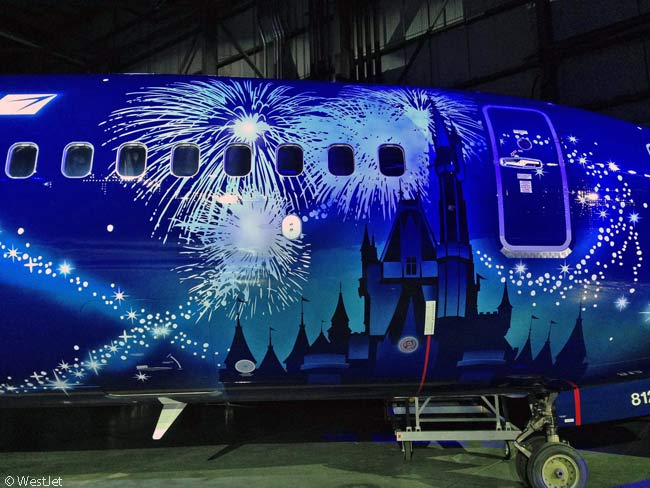 "WestJet's elaborately painted, Disney-themed ""#MagicPlane"" Boeing 737-800 features 36 different paint colors"
